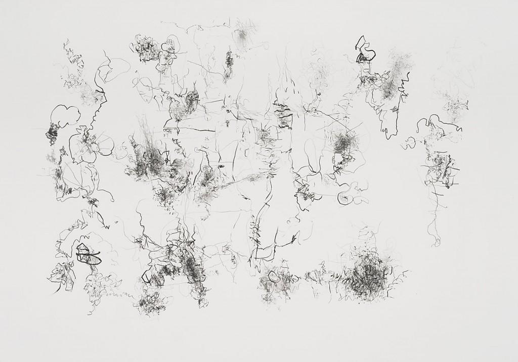 Seismografische Kompositionen 02 04 15 / Bleistift auf Papier / 59,4 x 84,1 cm
