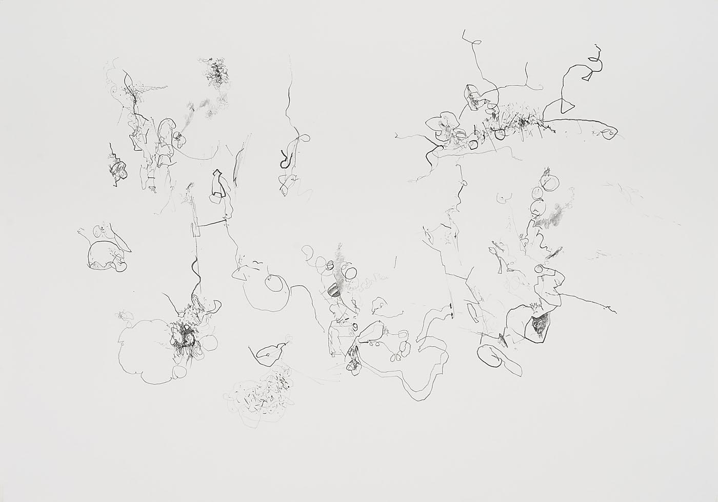 Seismografische Kompositionen 13 03 14 B / Bleistift auf Papier / 59,4 x 84,1 cm