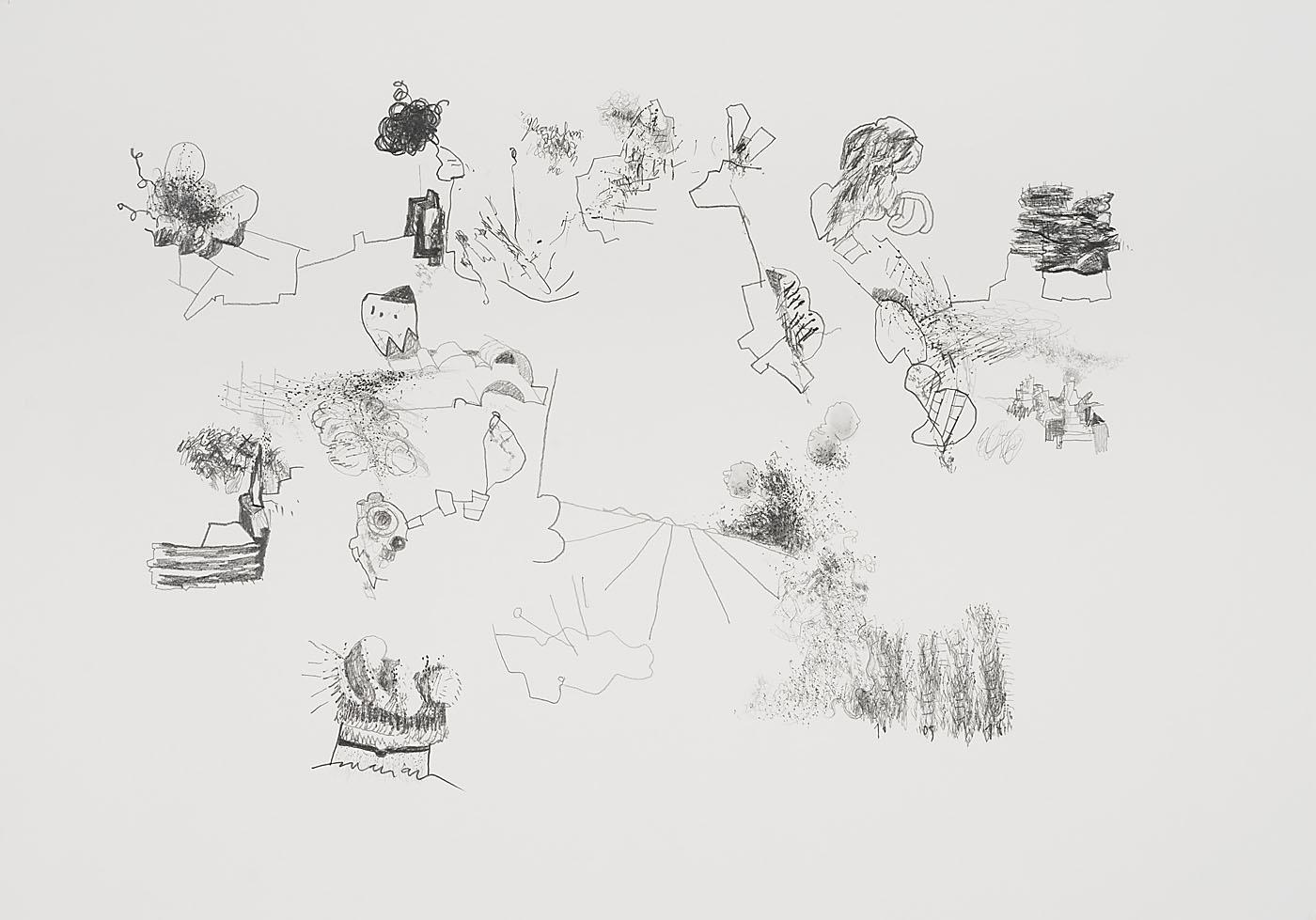 Seismografische Komposition 16 05 14 / Bleistift auf Papier / 59,4 x 84,1 cm