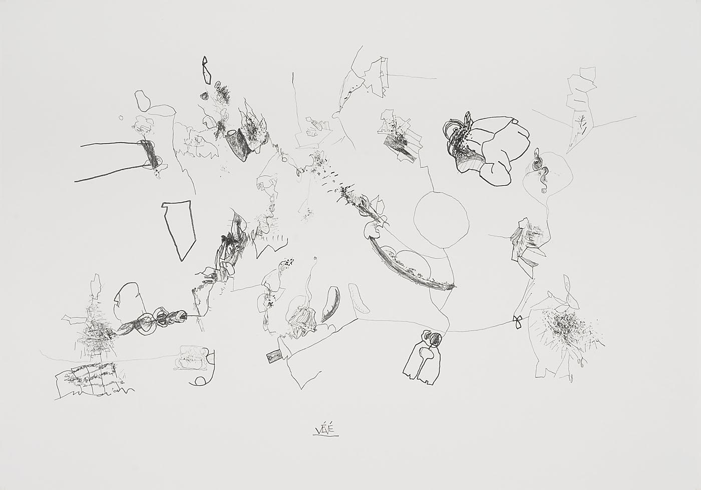 Seismografische Komposition 18 06 14 / Bleistift auf Papier / 59,4 x 84,1 cm