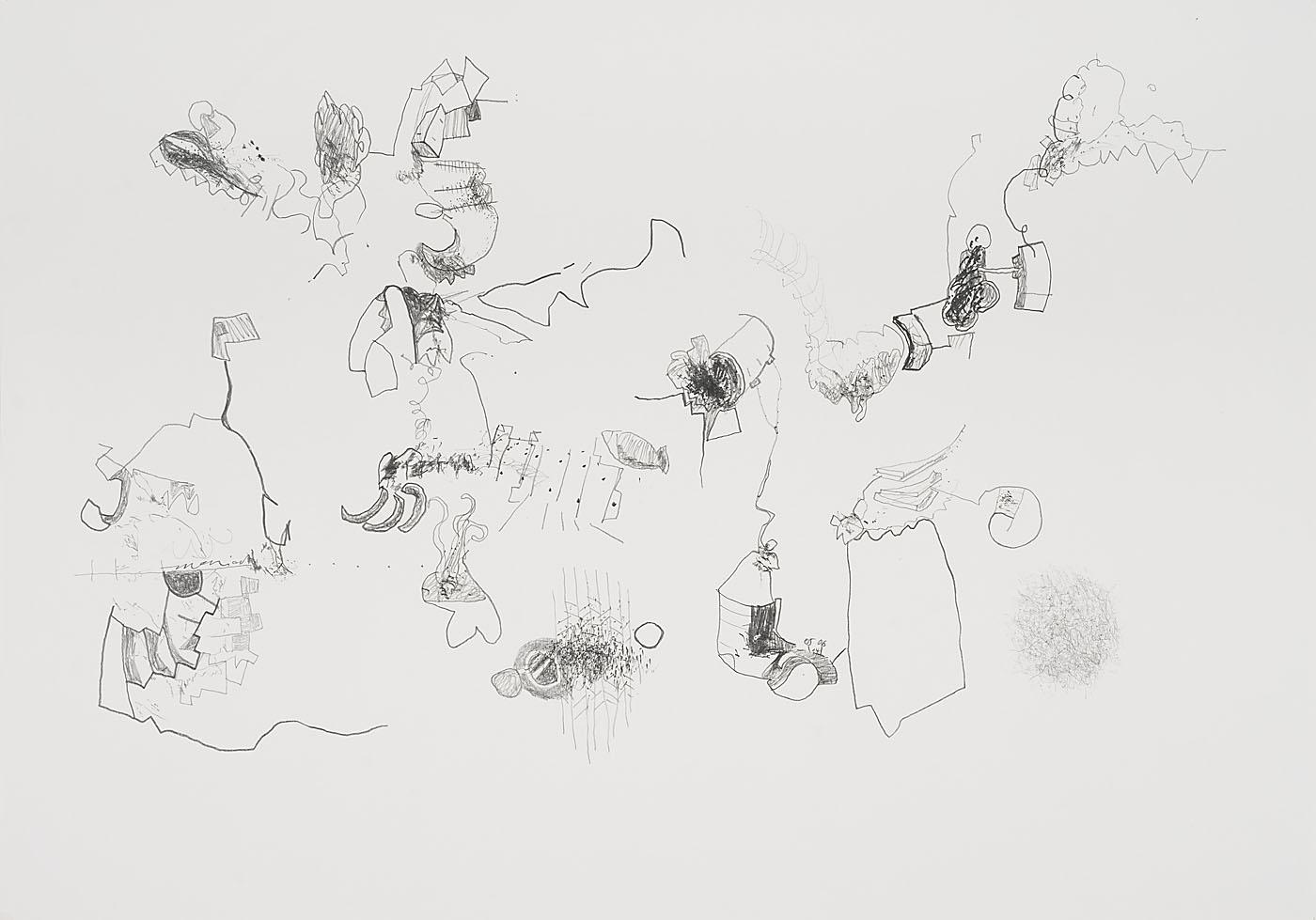 Seismografische Komposition 13 03 14 / Bleistift auf Papier / 59,4 x 84,1 cm